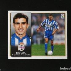 Figurine di Calcio: DEP PAULETA DEPORTIVO DE LA CORUÑA 1998 1999 EDICIONES ESTE 98 99 LIGA SIN PEGAR NUNCA PEGADO. Lote 218894106