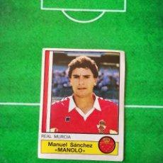 Cromos de Fútbol: CROMO SIN PEGAR DEL ALBUM FUTBOL 1987 LIGA 1ª DIVISION 87 88 PANINI 165 MANOLO MURCIA. Lote 218946506