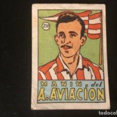 Cromos de Fútbol: CROMOS CULTURA 1942 BRUGUERA ATLÉTICO AVIACION MANIN 270. Lote 218946526