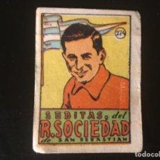 Cromos de Fútbol: CROMOS CULTURA 1942 BRUGUERA REAL SOCIEDAD SEBITAS 274. Lote 218946607