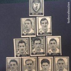Cromos de Fútbol: LOTE DE 10 CROMOS DE FUTBOL DEL REAL JAEN CLUB DE FUTBOL. Lote 219640328