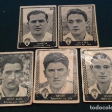 Cromos de Fútbol: LOTE DE 5 CROMOS DE FUTBOL DEL JAEN (ALGUNO RECUPERADO). Lote 220280492