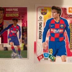 Cromos de Fútbol: 2 CARDS RIQUI PUIG ROOKIE 2019 FC BARCELONA 1 STICKER !. Lote 220847986