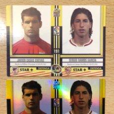 Cromos de Fútbol: # 191 SERGIO RAMOS ROOKIE CARD SEVILLA, REAL MADRID, TOP 2005 MUNDICROMO. 2 VERSIONES BRILLO Y MATE.. Lote 220942596