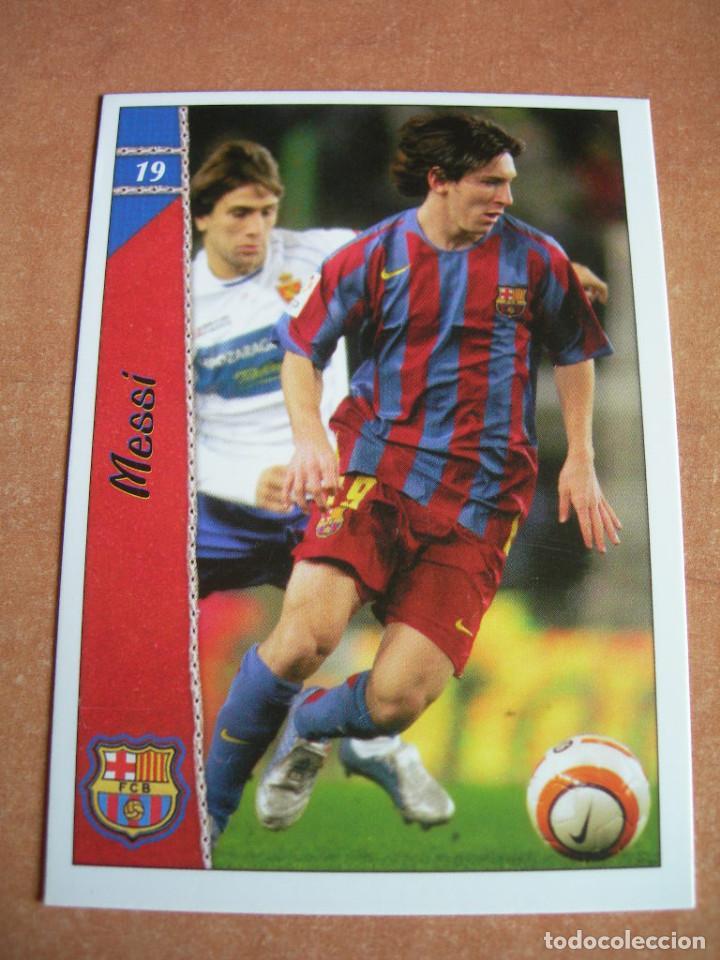 CROMO / CARD Nº 19 MESSI DE LAS FICHAS DE LA LIGA 2006 2007 06 07 - ÁLBUM DE MUNDICROMO SPORT - (Coleccionismo Deportivo - Álbumes y Cromos de Deportes - Cromos de Fútbol)
