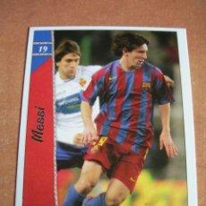 Cromos de Fútbol: CROMO / CARD Nº 19 MESSI DE LAS FICHAS DE LA LIGA 2006 2007 06 07 - ÁLBUM DE MUNDICROMO SPORT -. Lote 220946533
