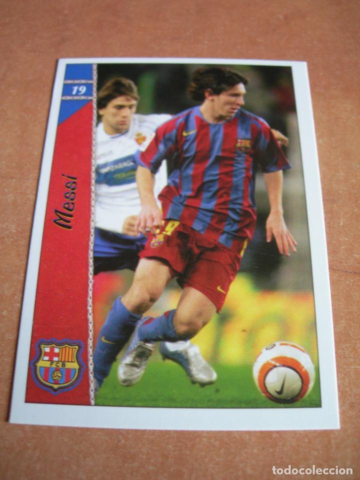 Cromos de Fútbol: CROMO / CARD Nº 19 MESSI DE LAS FICHAS DE LA LIGA 2006 2007 06 07 - ÁLBUM DE MUNDICROMO SPORT - - Foto 2 - 220946533