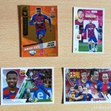 Cromos de Fútbol: 4 CROMOS ANSU FATI Y MESSI, NUEVOS, ROOKIE CARD. Lote 220967468
