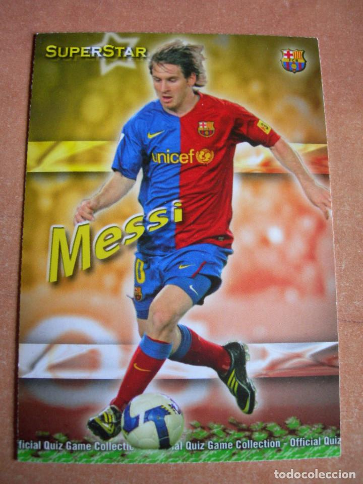 CROMO / CARD Nº 27 MESSI SUPERSTAR OFFICIAL QUIZ GAME COLLECTION 2010 - ÁLBUM DE MUNDICROMO SPORT - (Coleccionismo Deportivo - Álbumes y Cromos de Deportes - Cromos de Fútbol)