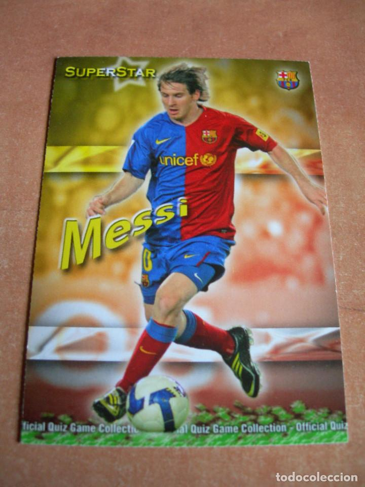 Cromos de Fútbol: CROMO / CARD Nº 27 MESSI SUPERSTAR OFFICIAL QUIZ GAME COLLECTION 2010 - ÁLBUM DE MUNDICROMO SPORT - - Foto 2 - 220976763