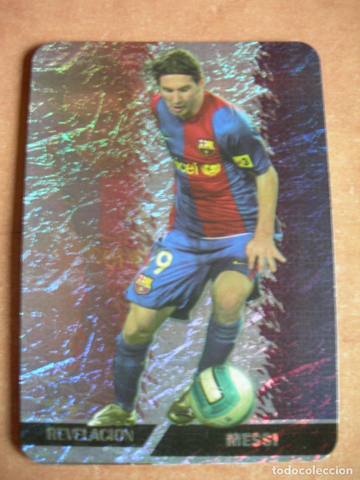 CROMO / CARD Nº 542 MESSI REVELACIÓN LAS FICHAS DE LIGA 2006 2007 06 07 - ÁLBUM MUNDICROMO SPORT - (Coleccionismo Deportivo - Álbumes y Cromos de Deportes - Cromos de Fútbol)