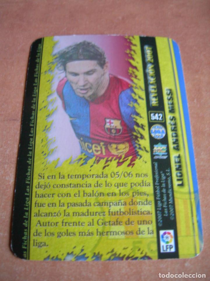 Cromos de Fútbol: CROMO / CARD Nº 542 MESSI REVELACIÓN LAS FICHAS DE LIGA 2006 2007 06 07 - ÁLBUM MUNDICROMO SPORT - - Foto 4 - 220978065