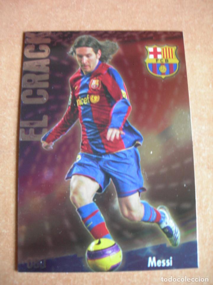 CROMO / CARD Nº 80 MESSI BRILLO LISO LAS FICHAS DE LIGA 2008 2009 08 09 - ÁLBUM MUNDICROMO SPORT - (Coleccionismo Deportivo - Álbumes y Cromos de Deportes - Cromos de Fútbol)