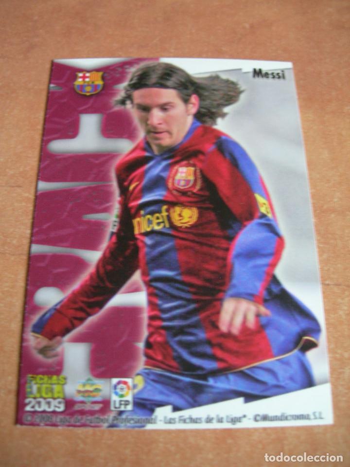 Cromos de Fútbol: CROMO / CARD Nº 80 MESSI BRILLO LISO LAS FICHAS DE LIGA 2008 2009 08 09 - ÁLBUM MUNDICROMO SPORT - - Foto 4 - 220978672