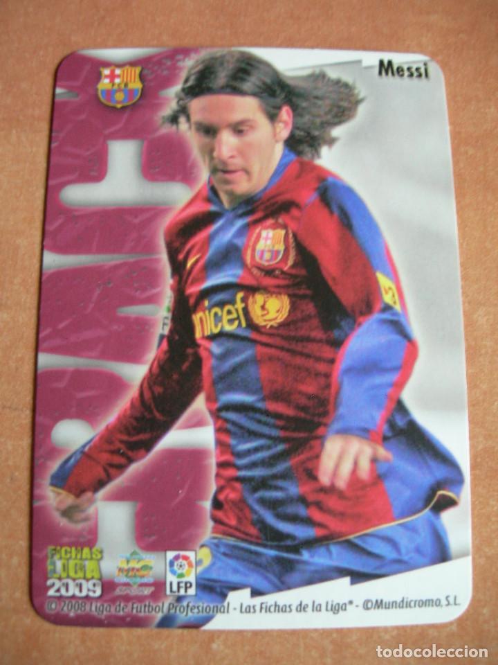 Cromos de Fútbol: CROMO / CARD Nº 80 MESSI BRILLO LISO LAS FICHAS DE LIGA 2008 2009 08 09 - ÁLBUM MUNDICROMO SPORT - - Foto 3 - 220978922