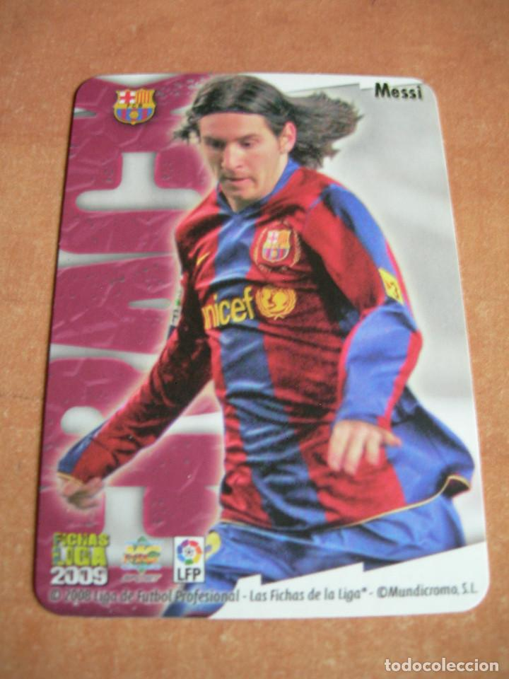Cromos de Fútbol: CROMO / CARD Nº 80 MESSI BRILLO LISO LAS FICHAS DE LIGA 2008 2009 08 09 - ÁLBUM MUNDICROMO SPORT - - Foto 4 - 220978922