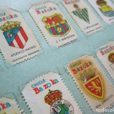Cromos de Fútbol: CHICLES BAZOOKA-COLECCION DE 55 CROMOS DE FUTBOL-FC BARCELONA-MADRID...ETC-VER FOTOS-(K-705). Lote 221155680