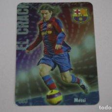 Figurine di Calcio: CROMO CARD DE FUTBOL MESSI DEL F.C.BARCELONA Nº 80 LAS FICHAS DE LIGA 2009 DE MUNDICROMO. Lote 221168502