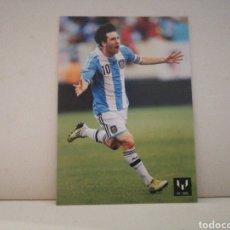 Cromos de Fútbol: CROMO MESSI HAT-TRICK CONTRA BRASIL. Lote 221227502