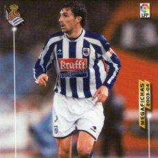 Cromos de Fútbol: ARANZABAL (REAL SOCIEDAD) - Nº 278 - MEGAFICHAS 2003/2004 - PANINI.. Lote 221386250
