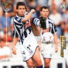 Cromos de Fútbol: ARANBURU (REAL SOCIEDAD) - Nº 280 - MEGAFICHAS 2003/2004 - PANINI.. Lote 221389378
