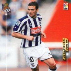 Cromos de Fútbol: DE PEDRO (REAL SOCIEDAD) - Nº 284 - MEGAFICHAS 2003/2004 - PANINI.. Lote 221391660