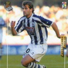 Cromos de Fútbol: BARKERO (REAL SOCIEDAD) - Nº 285 - MEGAFICHAS 2003/2004 - PANINI.. Lote 221391903