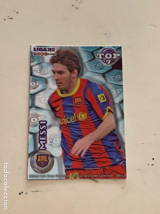 Cromos de Fútbol: MESSI CROMO 595 TOP 7 AZUL MUNDICROMO 2012. OFFICIAL QUIZ COLLECTION 2012 - Foto 1 - 221437422