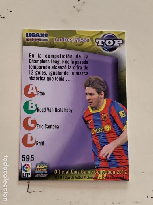 Cromos de Fútbol: MESSI CROMO 595 TOP 7 DORADO MUNDICROMO 2012. OFFICIAL QUIZ COLLECTION 2012. CROMO NUEVO E IMPECABLE - Foto 2 - 221437576