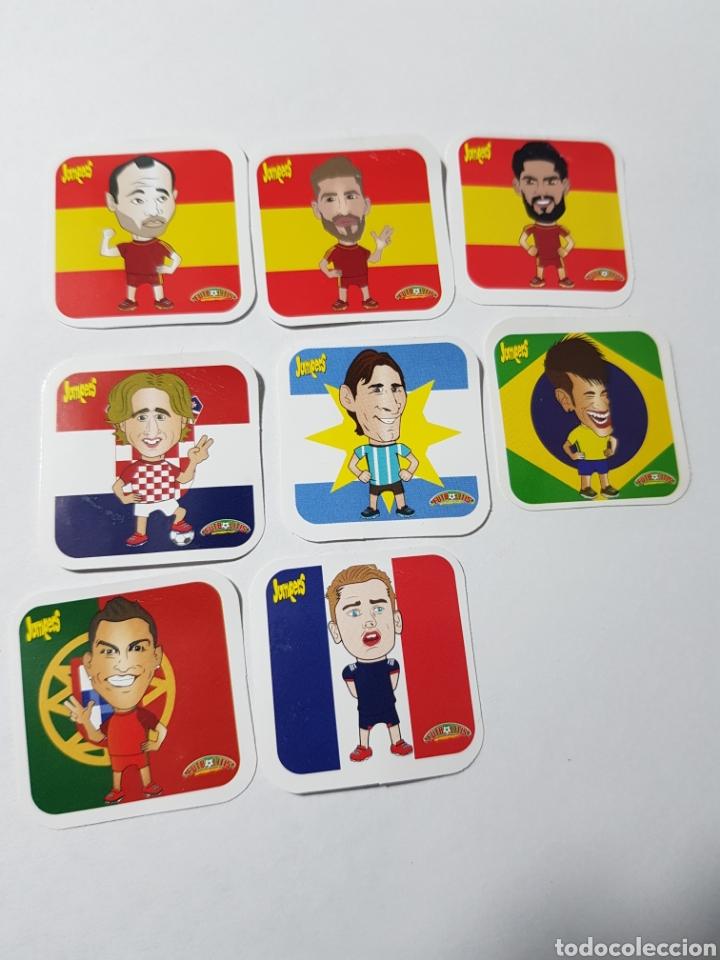 LOTE CROMOS PEGATINAS FUTBOLITIS JUMPERS ESQUINAS REDONDEADAS (Coleccionismo Deportivo - Álbumes y Cromos de Deportes - Cromos de Fútbol)