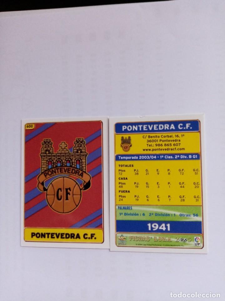 MUNDICROMO 2004 2005 Nº 600 ESCUDO PONTEVEDRA CORREGIDO (Coleccionismo Deportivo - Álbumes y Cromos de Deportes - Cromos de Fútbol)