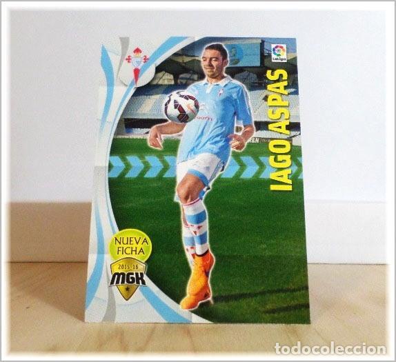 MEGACRACKS 2015 2016 15 16 PANINI IAGO ASPAS Nº 127 BIS FICHAJE CELTA VIGO ALBUM LIGA FÚTBOL MGK (Coleccionismo Deportivo - Álbumes y Cromos de Deportes - Cromos de Fútbol)