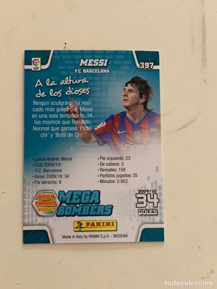 Cromos de Fútbol: MESSI CROMO 397 MEGA BOMBERS MEGACRACKS 2010-11.PANINI. - Foto 2 - 221513555
