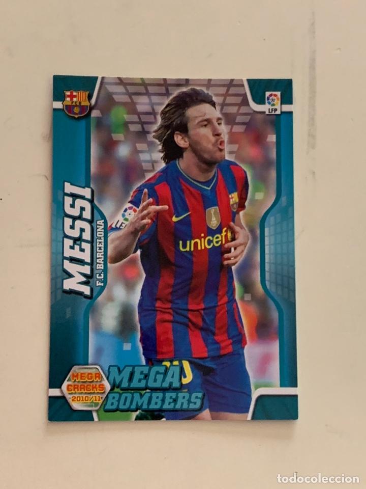 MESSI CROMO 397 MEGA BOMBERS MEGACRACKS 2010-11.PANINI. (Coleccionismo Deportivo - Álbumes y Cromos de Deportes - Cromos de Fútbol)