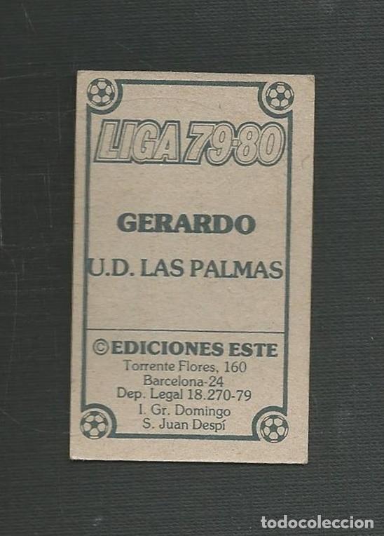 Cromos de Fútbol: CROMO NUNCA PEGADO FUTBOL LIGA 79-80 GERARDO U.D LAS PALMAS EDICIONES ESTE - Foto 2 - 221513612