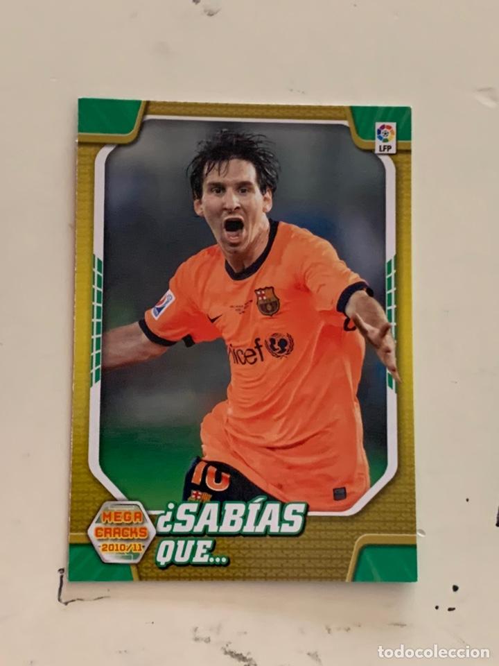 MESSI CROMO 411 MEGACRACKS 2010-11. PANINI (Coleccionismo Deportivo - Álbumes y Cromos de Deportes - Cromos de Fútbol)