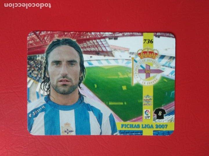 Cromos de Fútbol: FICHAS LIGA 06 07 MUNDICROMO MC TOP PLATINUM 2006 2007 BRILLO LISO Nº 736 JUAN RODRIGUEZ DEPORTIVO - Foto 2 - 221514423