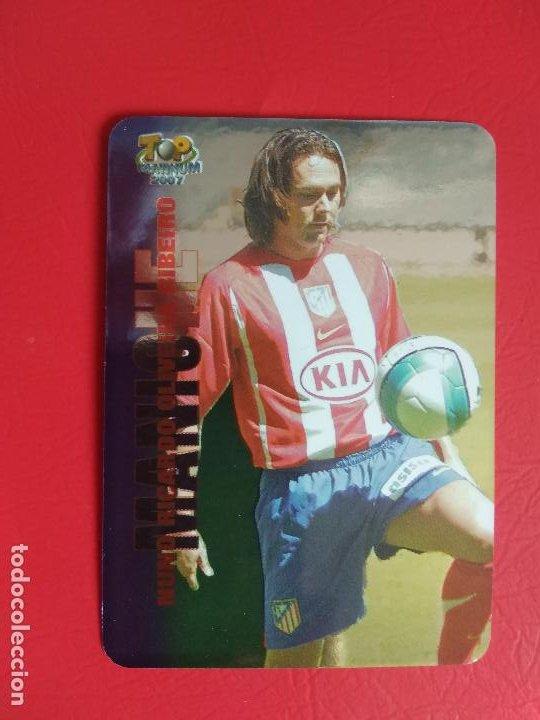 FICHAS LIGA 06 07 MUNDICROMO MC TOP PLATINUM 2006 2007 BRILLO LISO Nº 737 MANICHE ATLETICO DE MADRID (Coleccionismo Deportivo - Álbumes y Cromos de Deportes - Cromos de Fútbol)