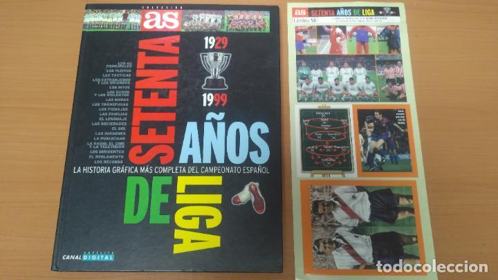 SESENTA AÑOS DE LIGA LAMINA DE CROMOS (Coleccionismo Deportivo - Álbumes y Cromos de Deportes - Cromos de Fútbol)