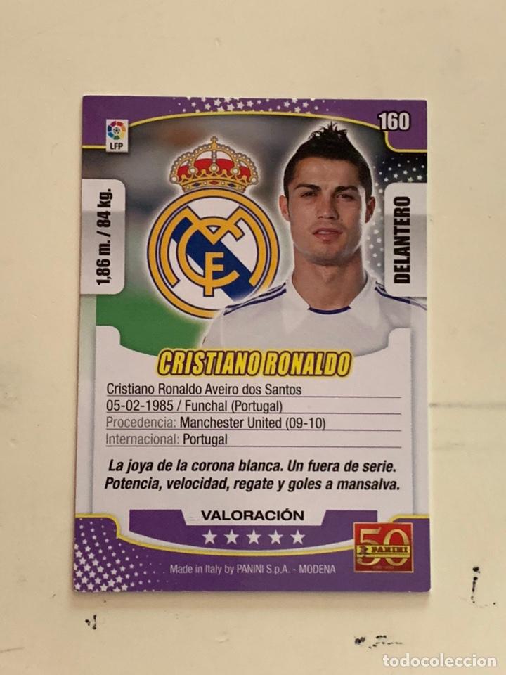 Cromos de Fútbol: Megacracks 2011 2012 Panini Cristiano Ronaldo nº 160 Real Madrid - Foto 2 - 221514710