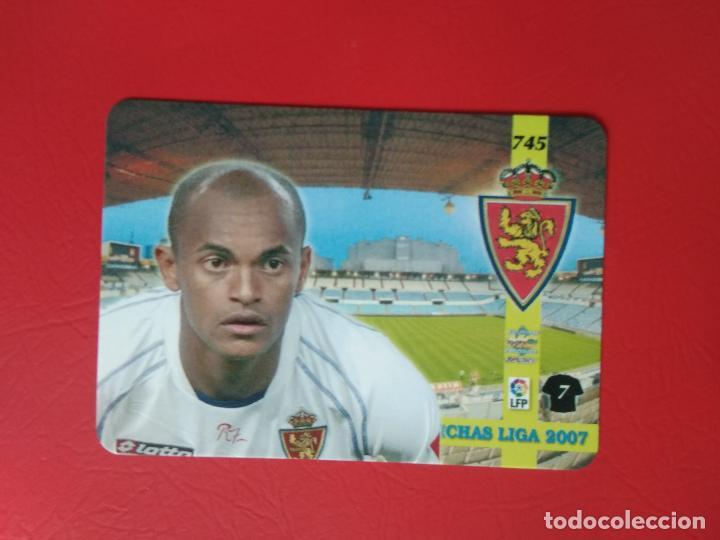 Cromos de Fútbol: FICHAS LIGA 06 07 MUNDICROMO MC TOP PLATINUM 2006 2007 BRILLO LISO Nº 745 EWERTHON ZARAGOZA - Foto 2 - 221514718