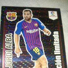 Cromos de Fútbol: ADRENALYN XL 2018 19 CROMO OFICIAL LFP SIN ACTIVAR EDICION LIMITADA JORDI ALBA, FC BARCELONA. Lote 221666550