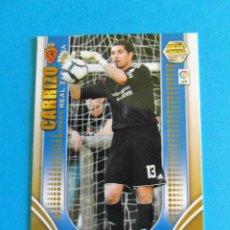 Cromos de Fútbol: MEGACRACKS 2009 2010 09 10 ZARAGOZA CARRIZO 344. Lote 221703091