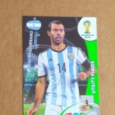 Cromos de Fútbol: CROMO DE MASCHERANO UTILITY PLAYER ADRENALYN XL FIFA WORLD CUP BRASIL 2014. ESTADO NOTABLE.. Lote 221703176