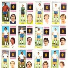Cromos de Fútbol: LOTE DE 16 CROMOS DE FUTBOL ALBUM 1974-75 FHER: R. ZARAGOZA (EQUIPO COMPLETO) (SEP-20). Lote 221712142