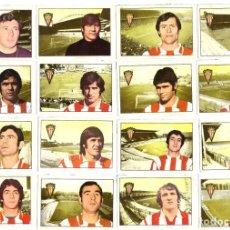 Cromos de Fútbol: LOTE DE 16 CROMOS DE FUTBOL ALBUM 1974-75 FHER: SPORTING DE GIJON (EQUIPO COMPLETO) (SEP-20). Lote 221712200