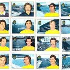 Cromos de Fútbol: LOTE DE 16 CROMOS DE FUTBOL ALBUM 1974-75 FHER: U.D. LAS PALMAS (EQUIPO COMPLETO) (SEP-20). Lote 221712263