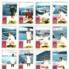 Cromos de Fútbol: LOTE DLOTE DE 16 CROMOS DE FUTBOL ALBUM 1974-75 FHER: VALENCIA C.F. (EQUIPO COMPLETO) (SEP-20). Lote 221712372