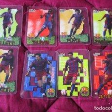Cromos de Fútbol: CRYSTALCARDS. LIGA 2006 2007. EQUIPO DEL F.C. BARCELONA. (8 CROMOS, SIN REPETIDOS ) + SOBRE VACIO. Lote 221713035