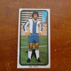 Cromos de Fútbol: CROMO RUIZ ROMERO 74.75. CINO N° 109. (R.C.D.ESPAÑOL). SIN PEGAR.. Lote 221713050